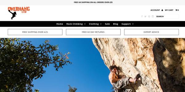 Overhang Climbing Portfolio
