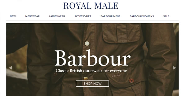 Royal Male Clothing Portfolio