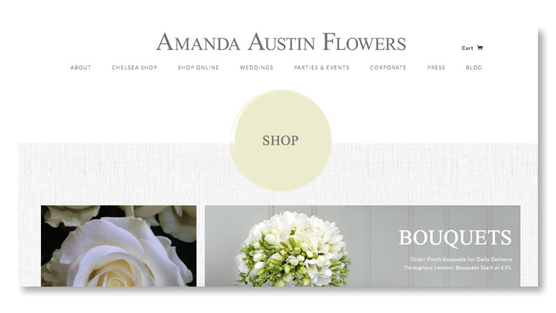 Amanda Austin Flowers Shopify Website