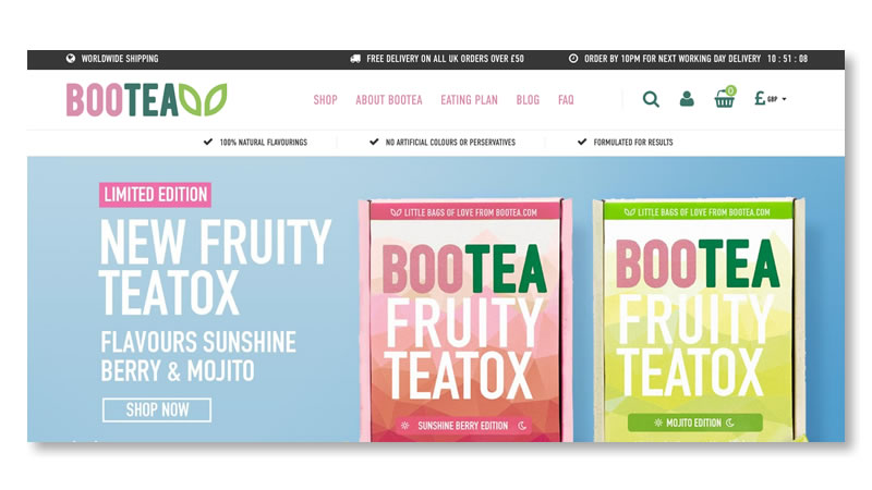 Bootea Website on Shopify