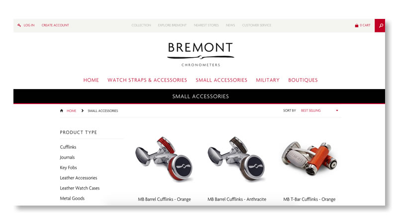 Bremont Watches Website on Shopify