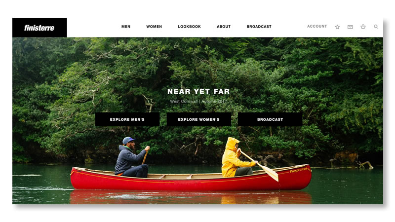 Finisterre Fashion Shopify Website