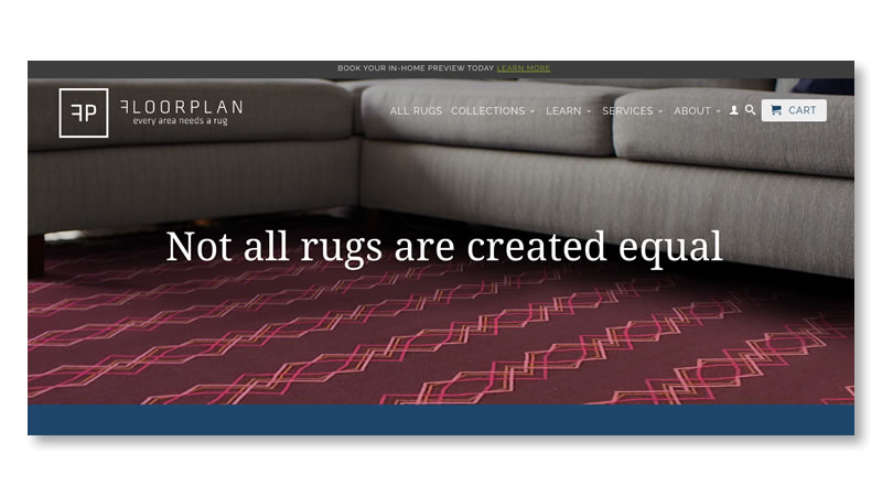 Floorplan Rugs Website on Shopify