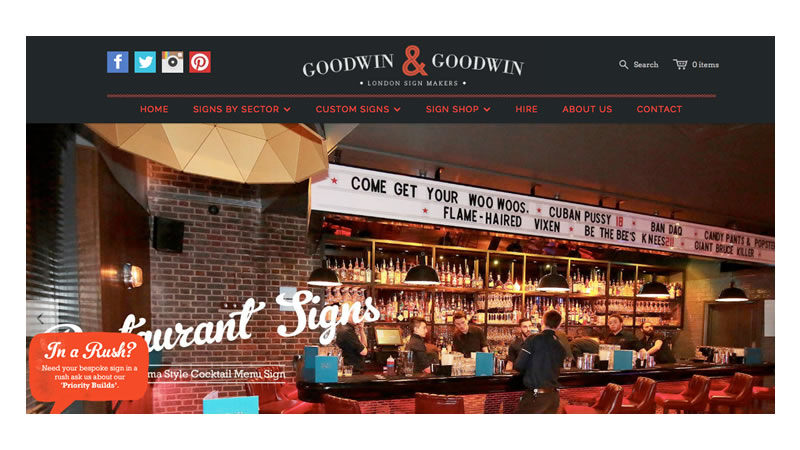 Goodwin Goodwin Signage Website on Shopify