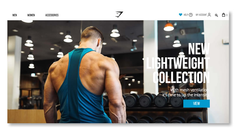 Gymshark Website on Shopify