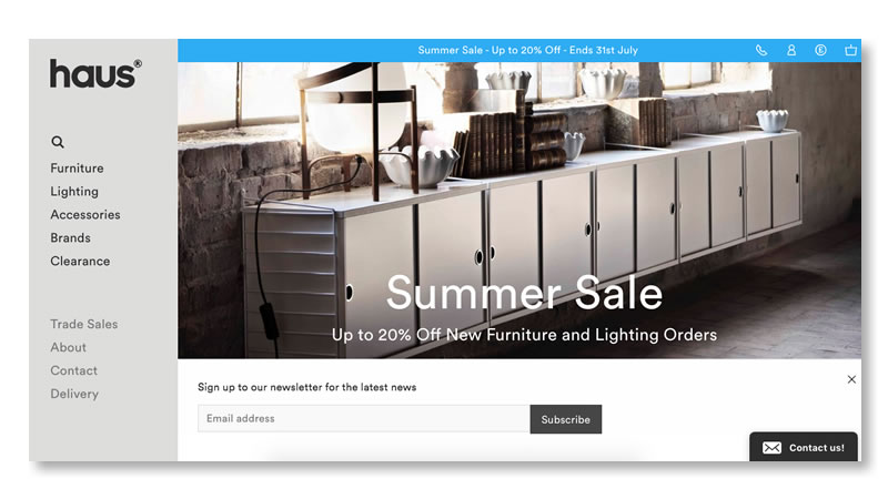 10 Beautiful Furniture Websites Using Shopify Mountain Dome