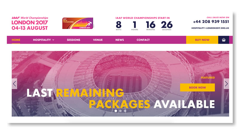 IAAF World Championships Website on Shopify