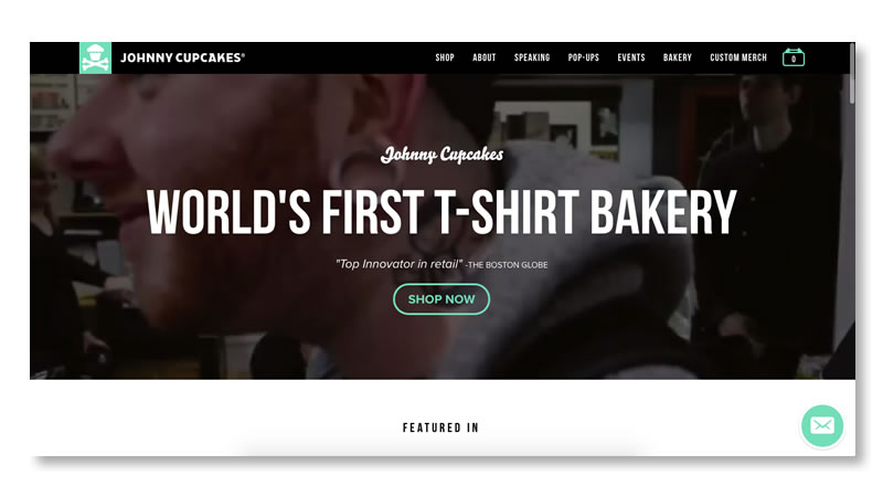 Johnny Cupcakes Fashion Website on Shopify