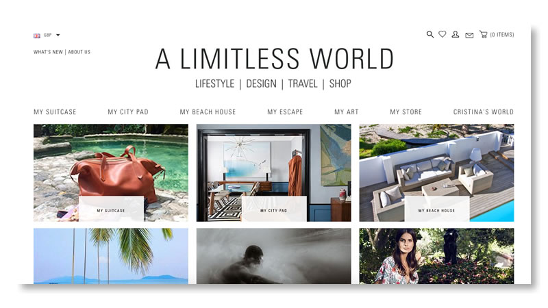 Limitless World Website on Shopify