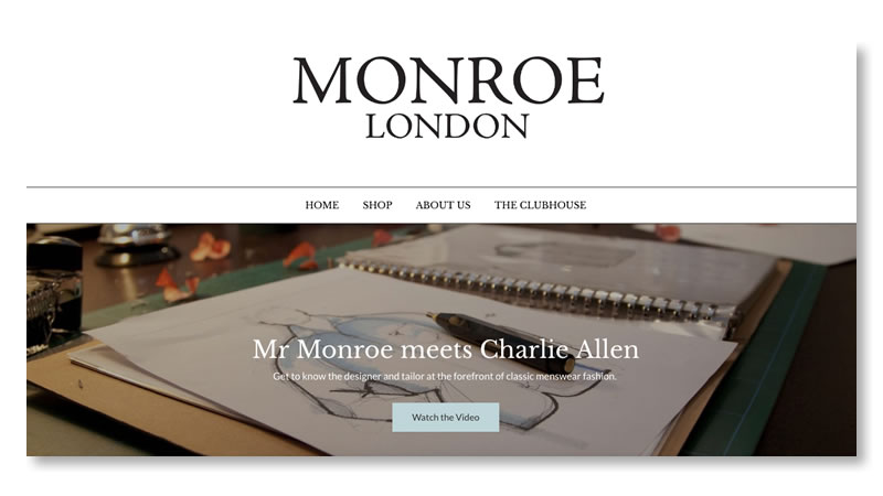 Monroe Mens Fashion Shopify Website