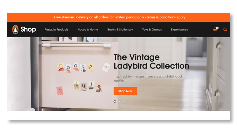 Penguin Books Shop Shopify Website