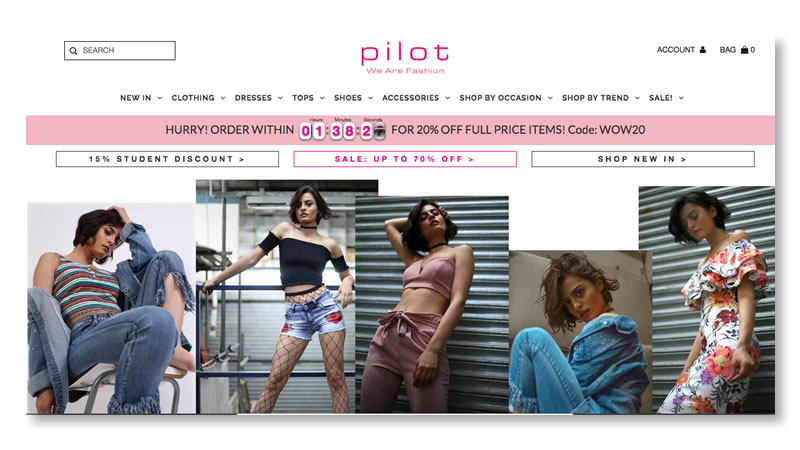 Pilot Fashion Website on Shopify