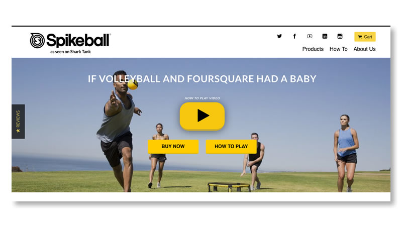 Spikeball Sports Website on Shopify
