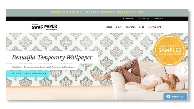 Swag Wallpaper Website on Shopify