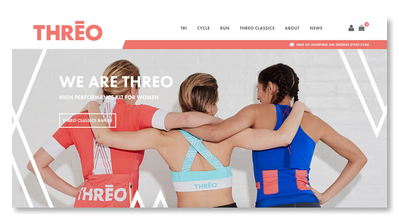 Threo Website on Shopify