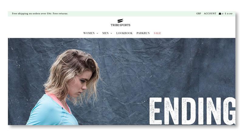 Tribe Sports Website on Shopify