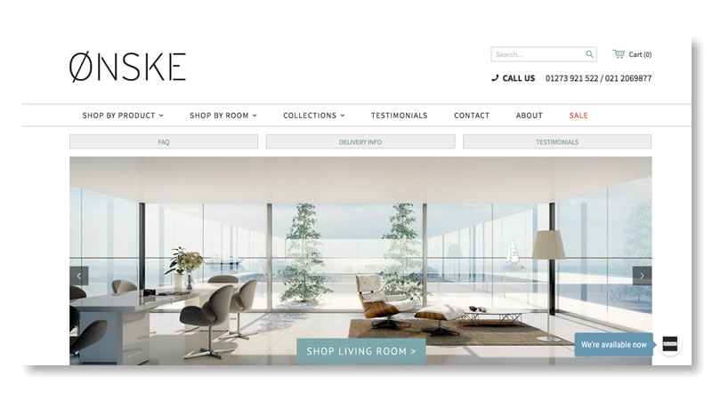 10 Beautiful Furniture Websites Using Shopify   Mountain Dome